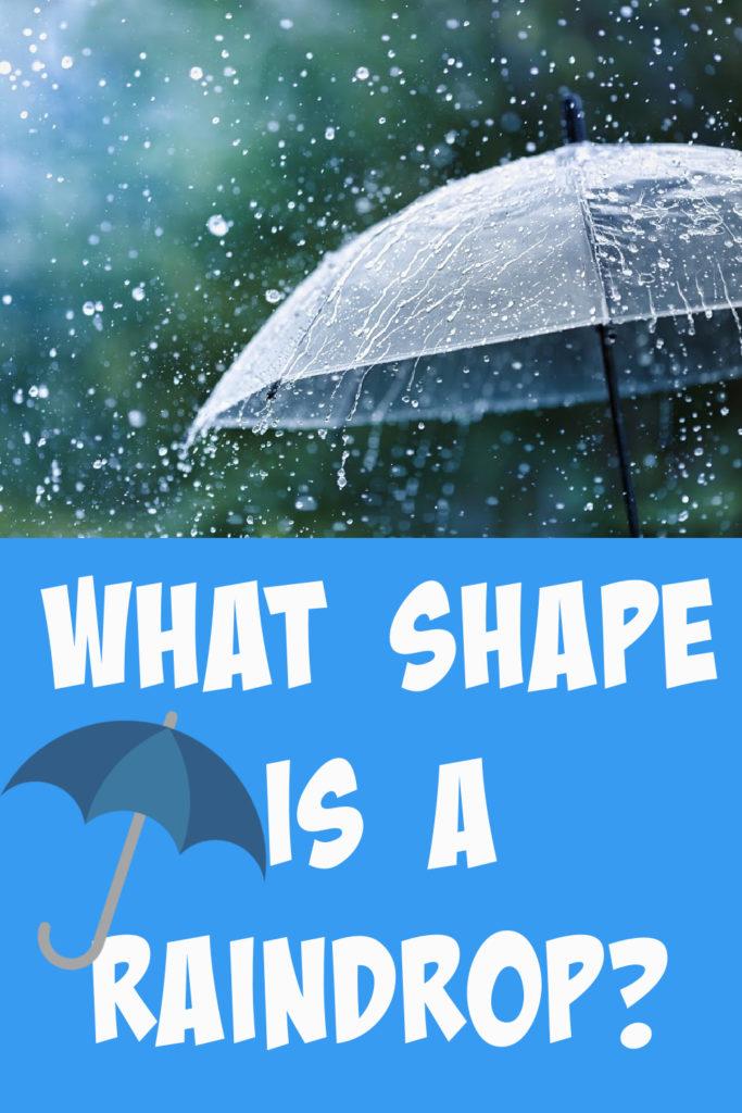 Image of a umbrella covered in rain