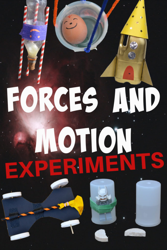 30 brilliant ideas for learning about forces. Fun collection of forces and motion experiments and investigations. Gravity experiments, air pressure experiments, inertia experiments and magnet experiments for kids