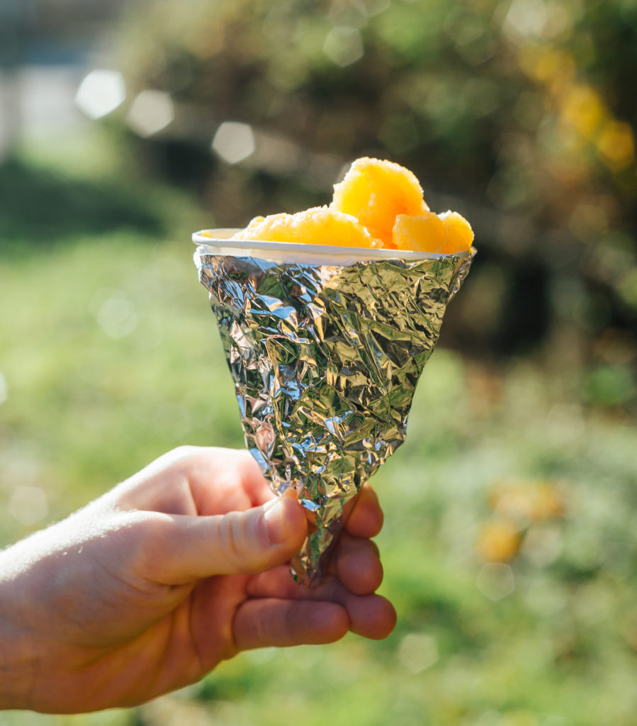 Slushy drink  in a container wrapped in foil for a science experiment