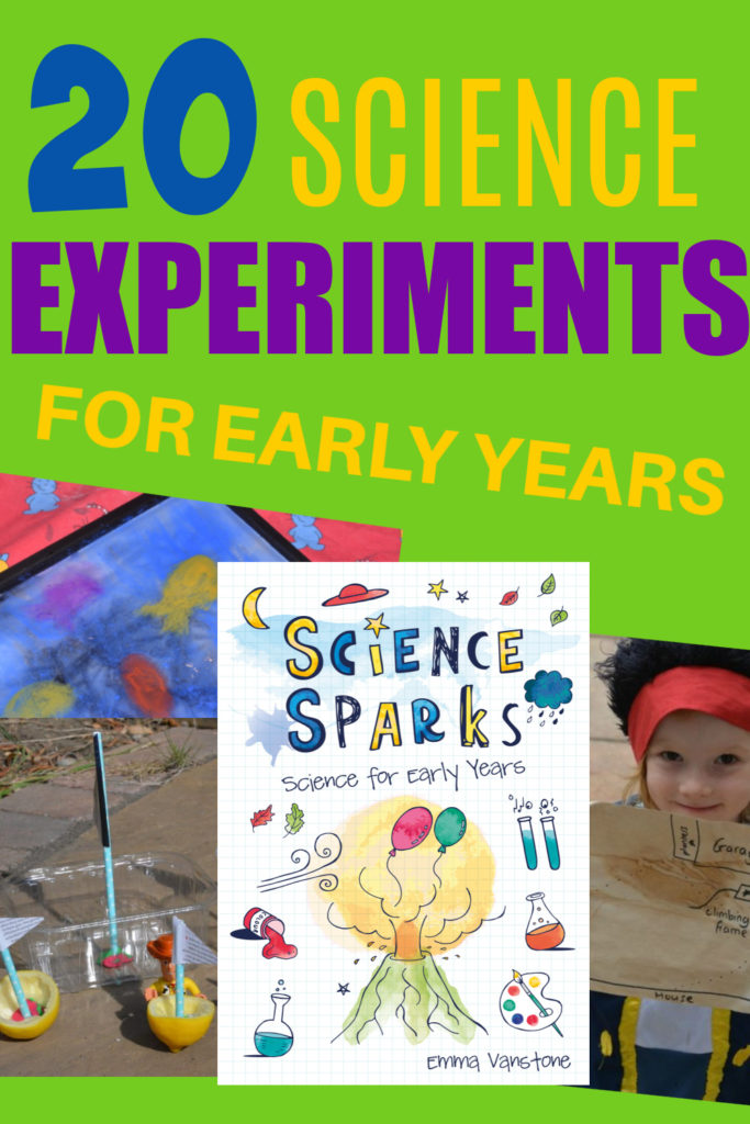 cover image for a free early years science book.