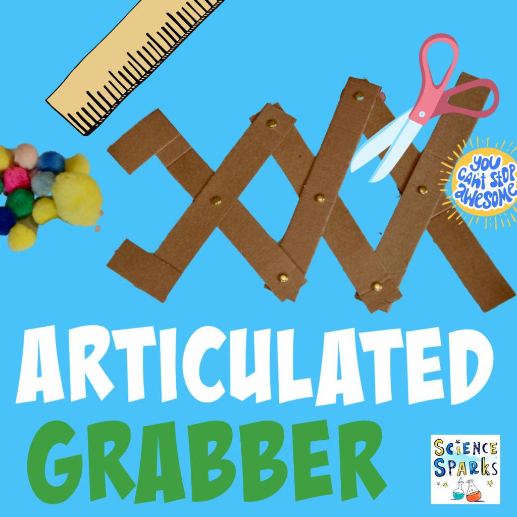 Image promoting an articulated grabber STEM Challenge