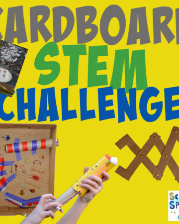 collaction of cardboard STEM Challenges