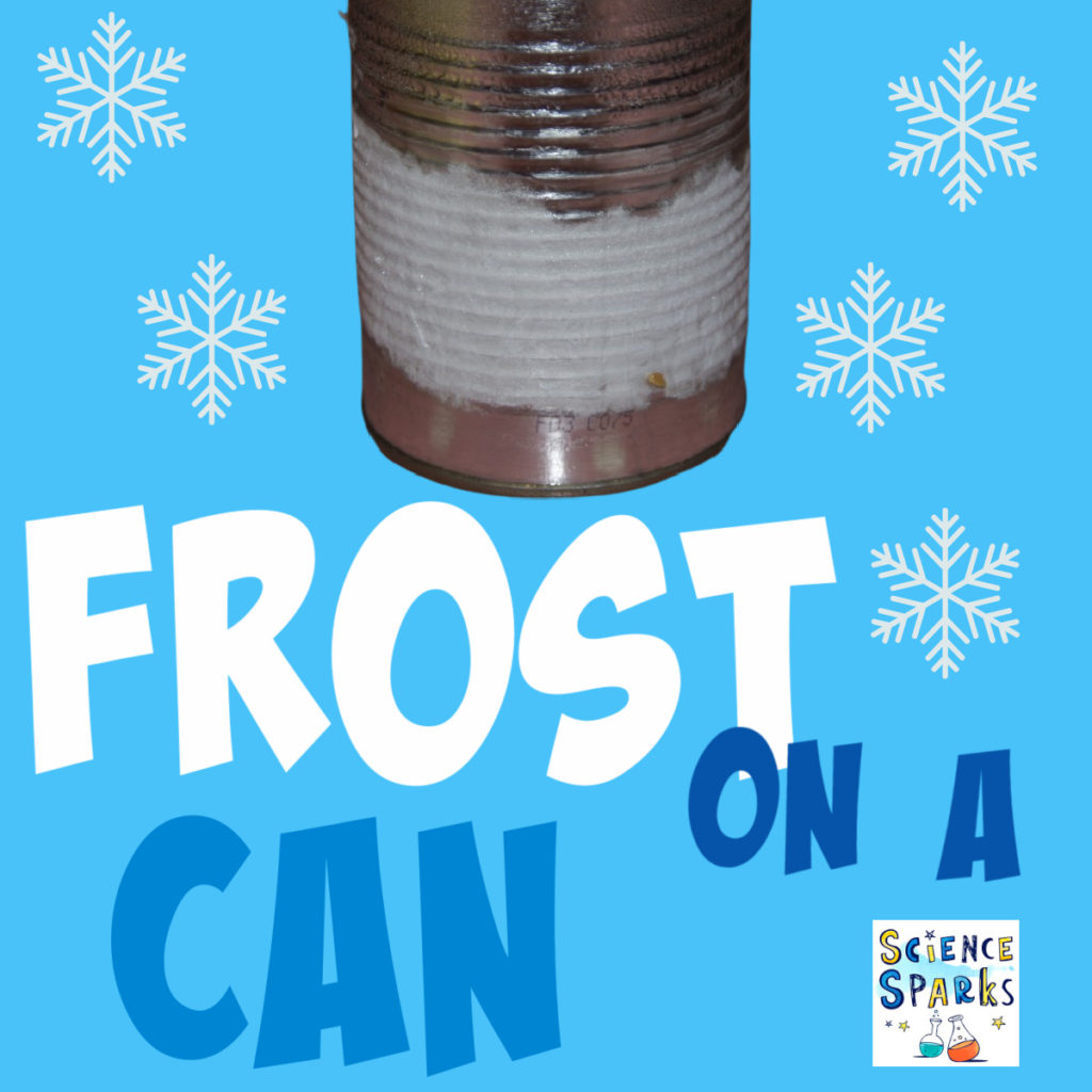 Frost on a can science experiment - great for linking to Frozen!