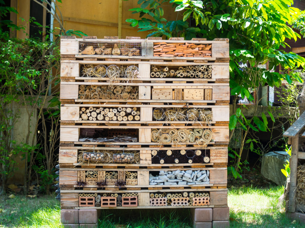 Giant bug hotel made from pallets