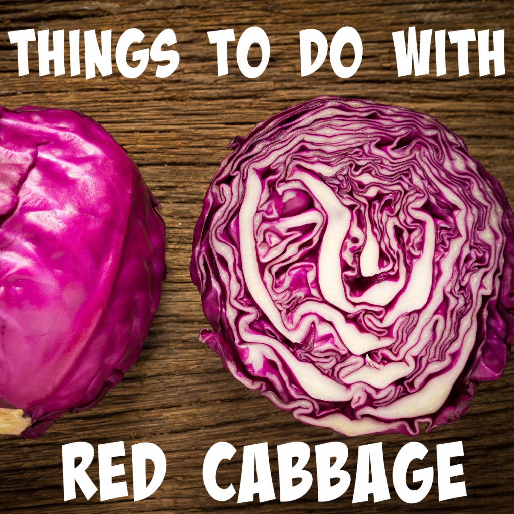 Image of red cabbage for a red cabbage science post