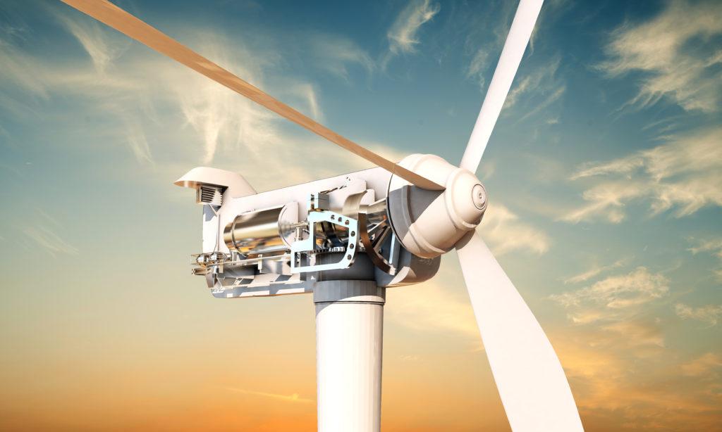 diagram sohwoing the inside of a wind turbine